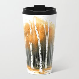 Autumn Wolf Travel Mug