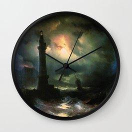 Ivan K  Aivazovsky — Neapolitan Lighthouse Wall Clock