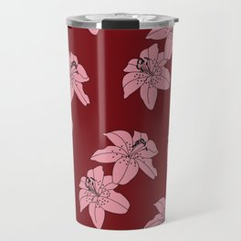 Lily The Tiger - Red Travel Mug