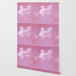 Floating cotton candy with pink Wallpaper