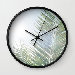 Another palm tree on another sunny morning Wall Clock