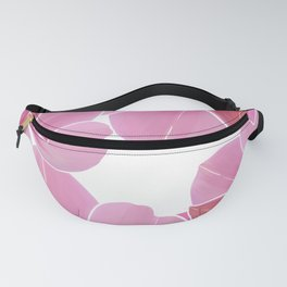 Modern hand painted pink lilac burgundy watercolor orchid Fanny Pack