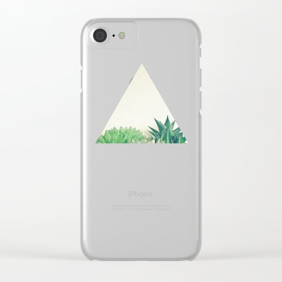 Succulent Forest Clear iPhone Case