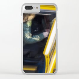 Taxi passenger's coming out Clear iPhone Case