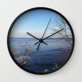 More Than Seven Swans A Swimming And A Sitting On The Second Day Before Christmas Wall Clock