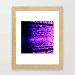 Purple Crystal Pixels Framed Art Print