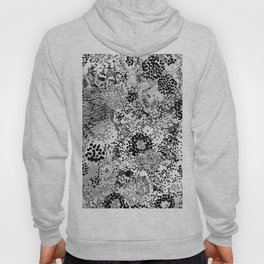 floral dots monochrome Hoody
