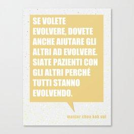 Unità nella evoluzione Canvas Print