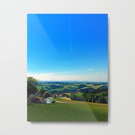 Condensation trail with some scenery Metal Print
