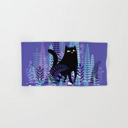 The Ferns (Black Cat Version) Hand & Bath Towel