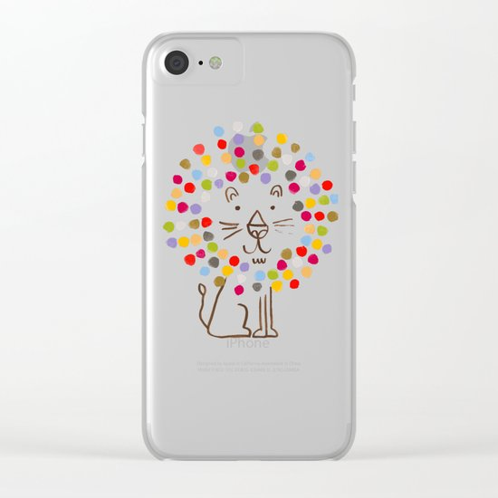 Dandy Lion Clear iPhone Case