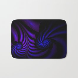 Spiral abstract fractal Bath Mat