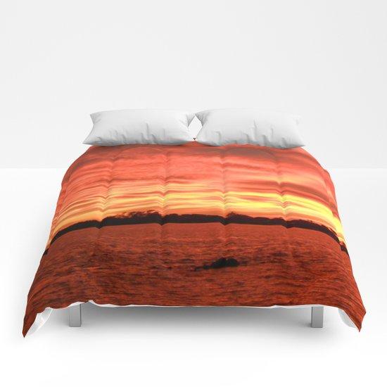 Florida Sunset Horizon Comforters