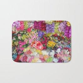 Vibrant Flower Garden Bath Mat