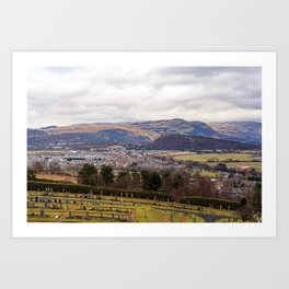View from Stirling Castle Art Print