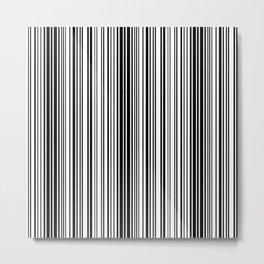 Barcode Pattern Metal Print