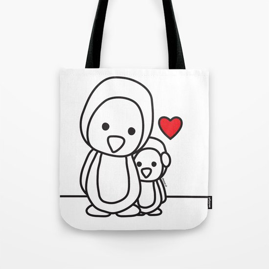 Penguin Sweetness Tote Bag