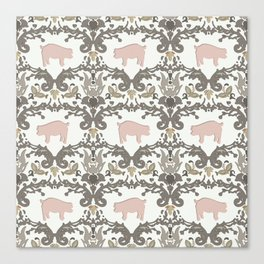 pig damask Canvas Print