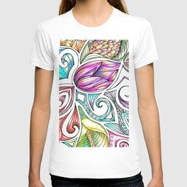 Lotus Maori Huia Art T-shirt
