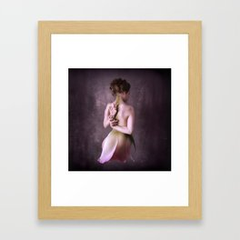 And then she turned into rose Framed Art Print
