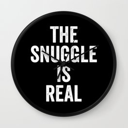 The snuggle is real Wall Clock