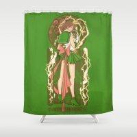 sailor jupiter Shower Curtains featuring Before the Storm - Sailor Jupiter nouveau by eriphyle
