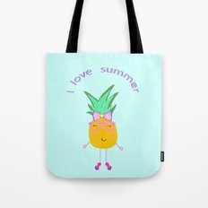 Cute Hipster Pineapple Tote Bag