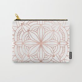 Mandala Rose Gold Pink Shine Carry-All Pouch