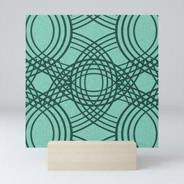 Celtic Knot pattern Spearmint Mini Art Print
