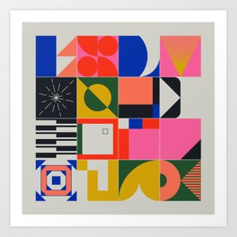 Abstract Geometric Composition 069 Art Print