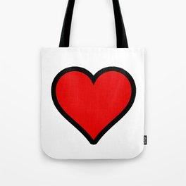 Bold Red Heart Shape Valentine Digital Illustration, Minimal Art Tote Bag
