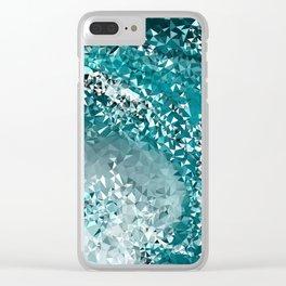 Crashing Tris Clear iPhone Case