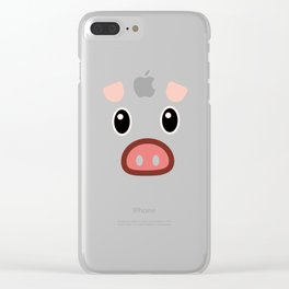 pig chinese new year year funny gift Clear iPhone Case