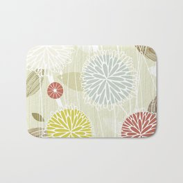 Abstract Floral Beige by Friztin Bath Mat