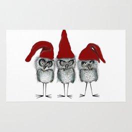 Christmas owls Rug