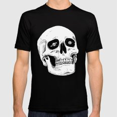 Space Skull Mens Fitted Tee LARGE Black