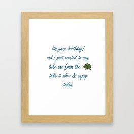 Birthday Turtle Framed Art Print