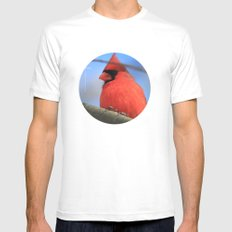 The Cardinal Portrait White Mens Fitted Tee MEDIUM