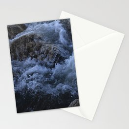 Crisp water hitting the rocks. Stationery Cards