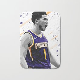 Devin Booker Basketball Print Basketball Wall Art Basketball Poster Basketball Wall Decor Poster Bath Mat