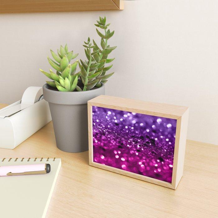 Pink Purple Lady Glitter #1 #shiny #decor #art #society6 Framed Mini Art Print