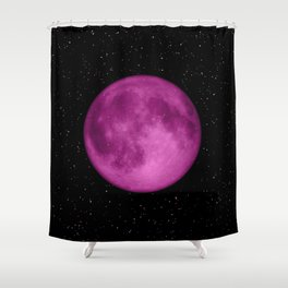 Dreamy Purple Moon Shower Curtain