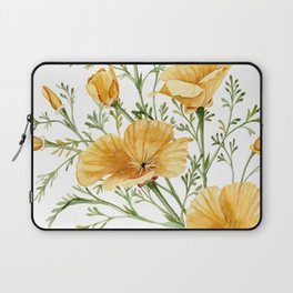 California Poppies - Watercolor Painting Laptop Sleeve
