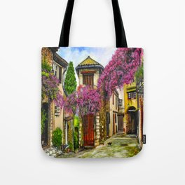 Courtyard in Provence Tote Bag