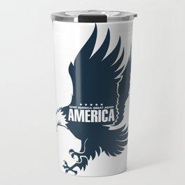 Make America Great Again Eagle, USA Travel Mug