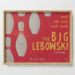 The Big Lebowski - Movie Poster, Coen brothers film, Jeff Bridges, John Turturro, bowling Serving Tray