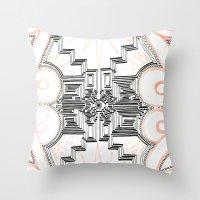 gatsby Throw Pillows featuring Gatsby Mandala by HRE.