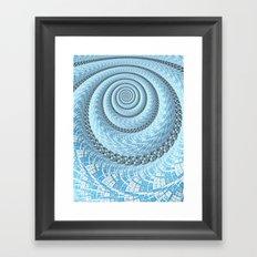 Spiral in Light Blue Framed Art Print