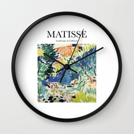 Matisse - Landscape at Collioure Wall Clock