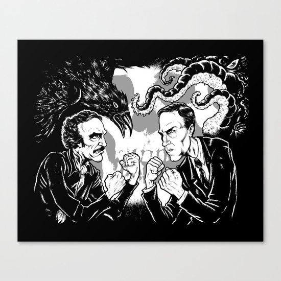 Poe vs. Lovecraft Canvas Print